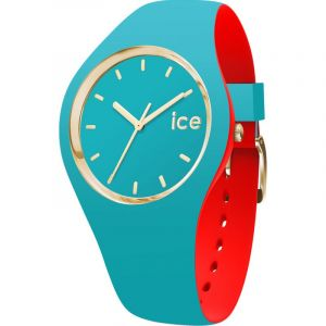 Ice Watch Montre Ice Loulou 007232 - Montre Taille S Silicone Turquoise Dorée Femme