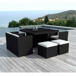 salon de jardin encastrable 8 places comparer 85 offres. Black Bedroom Furniture Sets. Home Design Ideas