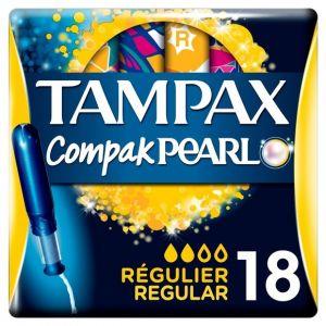 Tampax Compak Pearl Régulier Tampons avec Applicateur X 18 - Lot de 3