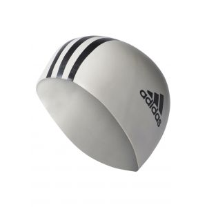 Adidas 3-Stripes Bonnet de Bain White/Black One size