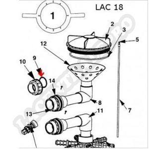 """Procopi 336009 - Joint plat d'union 1""""1/2 de filtre Lacron les 2 (40 x 10 mm)"""