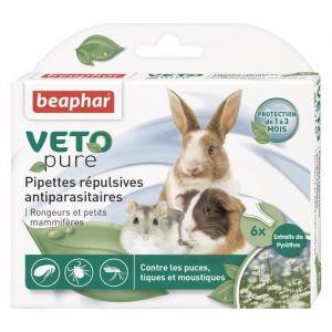 Beaphar Vetopure Pipettes répulsives antiparasitaires pour rongeurs