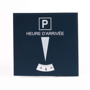 1 disque de stationnement zone bleue 15,8 x 15,8 cm en PVC à poser