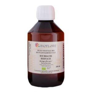Bioflore Huile de Bourrache Bio avec Vitamine E - 250 ml