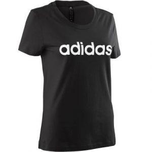 Adidas W E Lin Slim T T-Shirt Femme, Noir/Blanc, FR (Taille Fabricant : XS)