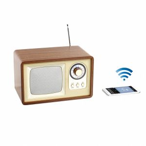 Clip Sonic TES177 Enceinte radio rétro Bluetooth - Bois