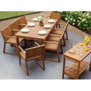 Beliani Table de jardin en bois Sassari