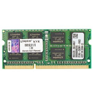 Kingston KVR16LS11/8 - Barrette mémoire ValueRAM 8 Go SO DIMM DDR3L 1600 MHz CL11 204 broches