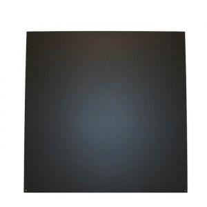 So Steel Plaque de sol de protection pour poêle à bois ou granulés - Carrée - 98 x 98 cm - Acier - Noir