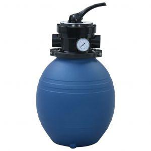 VidaXL Filtre à sable pour piscine avec vanne 4 positions Bleu 300 mm