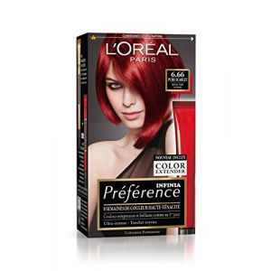 L'Oréal Préférence Infinia Reflets P67/6.66 Pure Scarlet - Rouge Très Intense