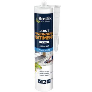 Bostik Mastic joint maçonnerie b,timent vg cartouche 310 ml blanc -