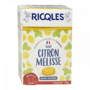 Ricqlès Bonbons Sans Sucres Goût Citron Mélisse, 40g