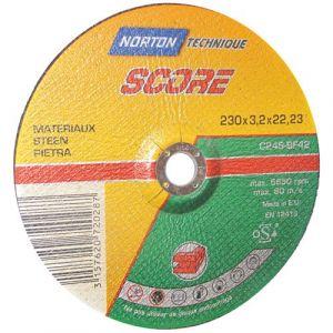 Disque à tronçonner métal 230x3 2x22 2 mm Disque pour meuleuse NORTON neuf