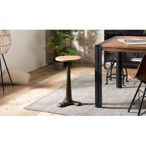 House and Garden Tabouret industriel Acacia recyclé hauteur ajustable pieds métal - RONNY