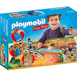 Playmobil 9329 - Play map motocross
