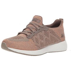 Skechers Bobs Squad-Hot Spark, Baskets Enfiler Femme, Beige (Taupe), 41 EU