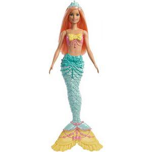 Mattel Dreamtopia poupée Sirène avec une Queue Arc-En-Ciel et des Cheveux Corail, jouet pour enfant, FXT11