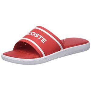 Lacoste L.30 Slide 218 1 Cam, Tongs Hommes, Rouge (Red/WHT 17k), 39,5 EU