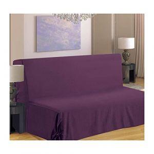 Homemaison HM69F516-80 Housse de Canapé pour BZ Polyester Violet 190 x 140 cm