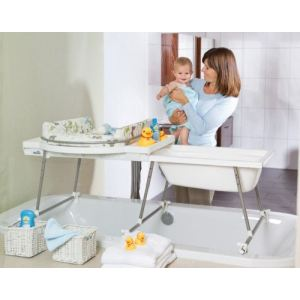 Table a langer avec baignoire comparer 113 offres for Fixer un pare baignoire