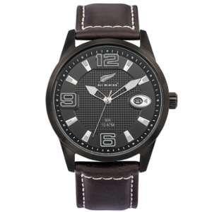 All Blacks 680402 - Montre pour homme avec bracelet en cuir