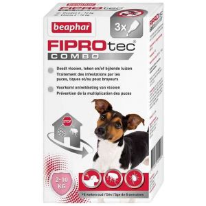 Beaphar Fiprotec Combo petits chiens 2-10 kg 3 pipettes