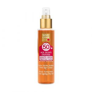 Mary Cohr Huile sèche solaire anti-âge corps SPF 50