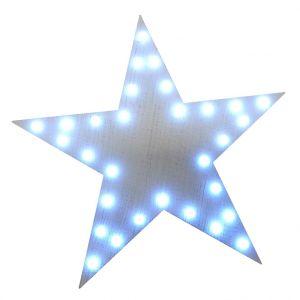 Etoile de Noël lumineuse blanche LED de 30cm