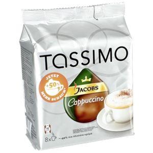 Tassimo 8 dosettes T-Discs Jacobs Cappuccino
