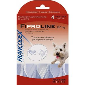 Francodex Fiproline 67 mg - Pipettes antiparasitaires pour Chien 2-10 kg