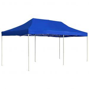 VidaXL Tente de réception pliable Aluminium 6 x 3 m Bleu