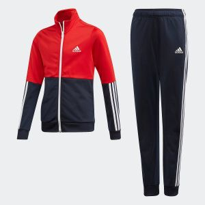 Adidas G PES TS Survêtement Fille, Top:Scarlet/Legend Ink/White Bottom:Legend Ink F17/White, FR : L (Taille Fabricant : 1112)