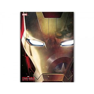 SD Toys Poster en verre Marvel Civil War Iron Man Face (30 x 40 cm)