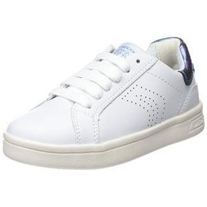Geox J Djrock A, Sneakers Basses Fille, Blanc (White), 32 EU