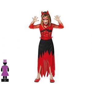 Atosa Déguisement Diablesse Enfant Halloween 10-12 Ans (145-160 Cm)