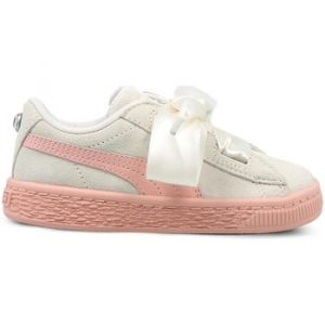 Puma Suede Heart Jewel Inf, Sneakers Basses Fille, Blanc (Whisper White-Peach Beige), 26 EU