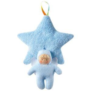 Trousselier Doudou Etoile musicale bleue avec ange Trousselier