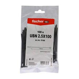 Fischer Collier de serrage UBN 87488 (L x l) 100 mm x 2.5 mm Couleur: noir 100 pc(s)