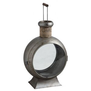 Aubry Gaspard Lanterne vintage en métal Métal, verre