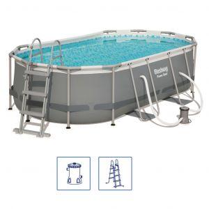 Bestway Ensemble de piscine Power Steel Ovale 56620
