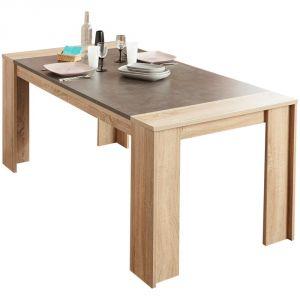 Swithome Strike Table En Chene Brut Beton Comparer Avec
