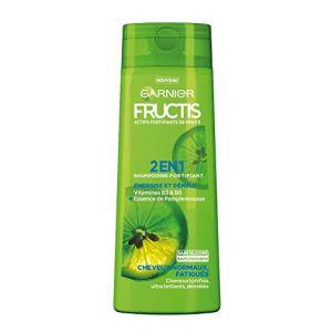 Garnier Fructis - 2 en 1 shampooing fortifiant Energise et démêle cheveux normaux, fatigués