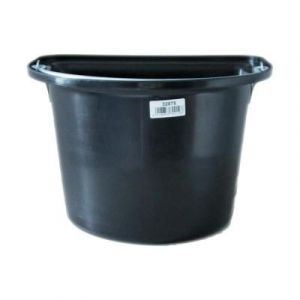 Kerbl Seau Mangeoire avec Anse pour Cheval Noir 12 L