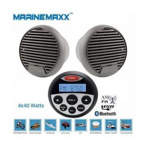 Desineo Enceintes bluetooth waterproof 2x70W radio