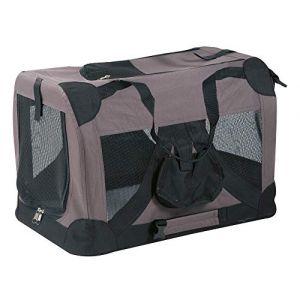 Flamingo Alix Sac de Transport Pliable pour Chat Taupe Taille L