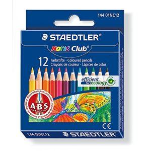 Staedtler 144 01NC12 - Crayon de couleur Noris Club, étui carton de 12
