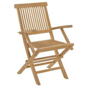 2 fauteuils de jardin Java en teck massif