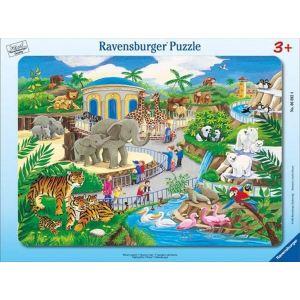 Ravensburger Puzzle cadre Animaux du zoo 45 pièces