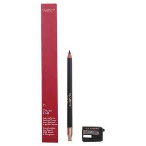 Clarins Crayon Khôl 01 Carbon Black - Crayon yeux longue tenue avec pinceau & taille crayon